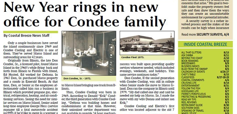 New Year rings in new office for Condee family